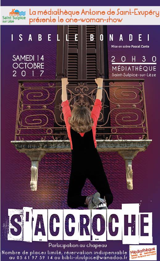 One man show Isabelle Bonadei le 14 octobre à 20h30